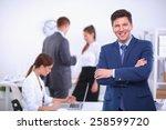 successful business man... | Shutterstock . vector #258599720