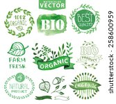 organic bio ecology natural... | Shutterstock .eps vector #258600959