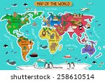 a vector illustration of map of ... | Shutterstock .eps vector #258610514