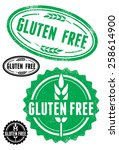 rubber stamps with text gluten... | Shutterstock .eps vector #258614900