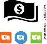 stack of two dollar bills | Shutterstock .eps vector #258616496