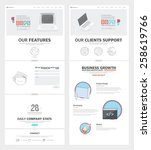 two page website design... | Shutterstock .eps vector #258619766