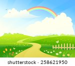 vector cartoon illustration of... | Shutterstock .eps vector #258621950