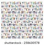 multiethnic casual people... | Shutterstock . vector #258630578
