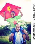 african family happiness... | Shutterstock . vector #258631340