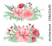 vector of flowers decoration... | Shutterstock .eps vector #258632630