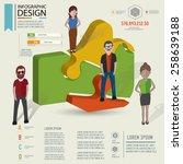 puzzle info graphic design... | Shutterstock .eps vector #258639188