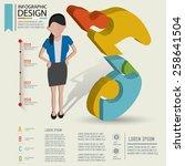 puzzle info graphic design... | Shutterstock .eps vector #258641504