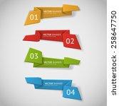 vector infographic origami... | Shutterstock .eps vector #258647750