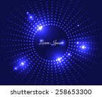 blue bright shiny background... | Shutterstock .eps vector #258653300