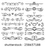 set of page decoration line... | Shutterstock .eps vector #258657188
