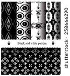 black and white geometric... | Shutterstock .eps vector #258666290