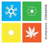 four seasons icon symbol vector ... | Shutterstock .eps vector #258668408