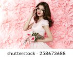 beautiful young sexy girl with... | Shutterstock . vector #258673688