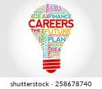 careers bulb word cloud ... | Shutterstock .eps vector #258678740