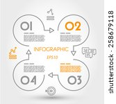 linear infographics square with ... | Shutterstock .eps vector #258679118