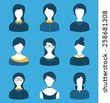 illustration set female...   Shutterstock .eps vector #258681308