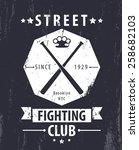 street fighting club grunge... | Shutterstock .eps vector #258682103