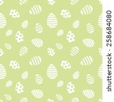 seamless green and white easter ... | Shutterstock .eps vector #258684080