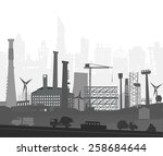 industrial site view with... | Shutterstock .eps vector #258684644