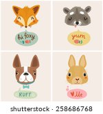 cute animals | Shutterstock .eps vector #258686768