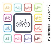 bicycle flat icons set. open...   Shutterstock .eps vector #258687440
