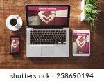 online dating website on a... | Shutterstock . vector #258690194