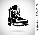 black boot icon. creative logo... | Shutterstock .eps vector #258693188
