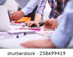 young business people working... | Shutterstock . vector #258699419
