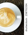 a cup of coffee.  | Shutterstock . vector #258701534
