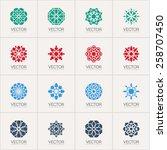 geometric logo template set.... | Shutterstock .eps vector #258707450
