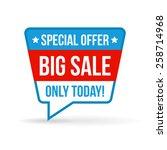 big sale tag for online shop.... | Shutterstock .eps vector #258714968