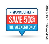 special offer save tag for... | Shutterstock .eps vector #258715004