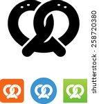 salty pretzel icon | Shutterstock .eps vector #258720380
