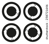 set of 4 isolated buttons  ...