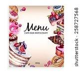 menu desserts | Shutterstock .eps vector #258727568