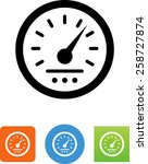 automobile speedometer symbol...   Shutterstock .eps vector #258727874