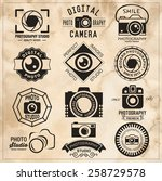 photography vintage retro... | Shutterstock .eps vector #258729578
