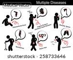 multiple diseases  ... | Shutterstock .eps vector #258733646