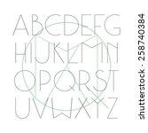 sanserif font hair line in... | Shutterstock .eps vector #258740384
