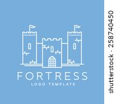 abstract fortress line style or ... | Shutterstock .eps vector #258740450