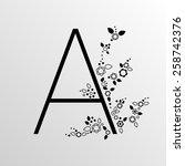 typographic character. capital...   Shutterstock .eps vector #258742376