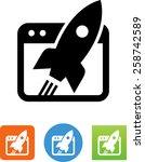 website launch icon | Shutterstock .eps vector #258742589