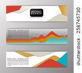 abstract banner  set design... | Shutterstock .eps vector #258745730
