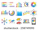 stat vector illustration icon... | Shutterstock .eps vector #258749090