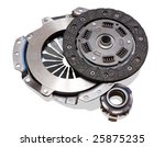 automobile  clutch. isolated on ... | Shutterstock . vector #25875235