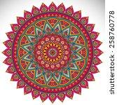 mandala  vector mandala  floral ...   Shutterstock .eps vector #258760778