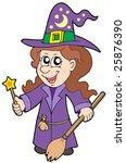 cute wizard girl   vector... | Shutterstock .eps vector #25876390