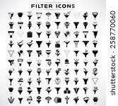 filter icons set  data tunnel... | Shutterstock .eps vector #258770060