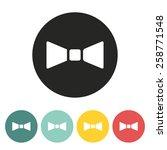 butterfly tie icon.vector...   Shutterstock .eps vector #258771548